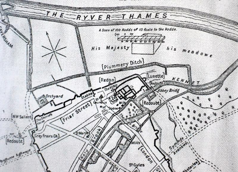 In this image its showing various brooks, streams and ditches which was once open air in Reading.
