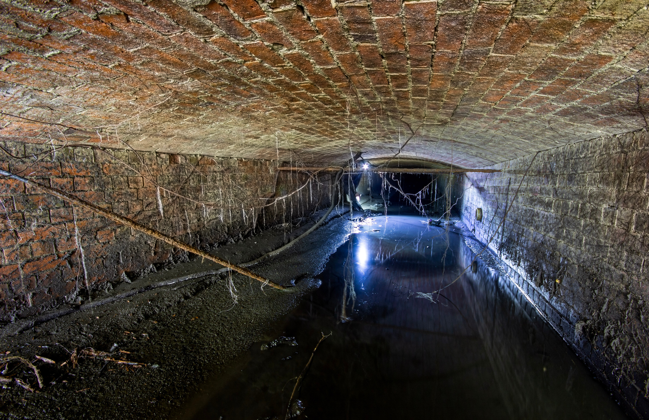 Under Carter's on Caversham Rd, this part seems to have a Victorian looking ceiling! as you can see in this photo the ditch was very muddy!