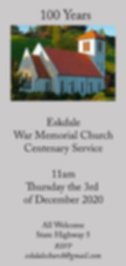 Eskdale Church Centenary Service Invitat