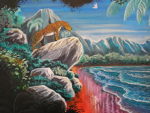 spots of the leopard, Original painting