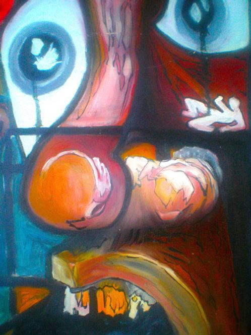 incredulity , Original painting