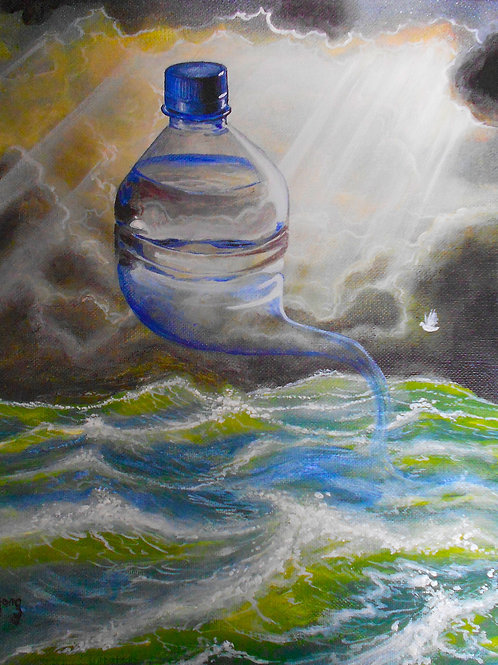 water bottle, Original painting