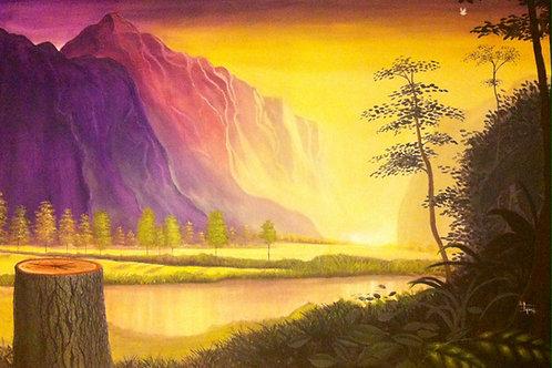 Apocalyptic photosynthesis Original painting