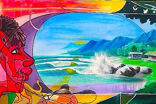 Walk into the vortex , Original painting