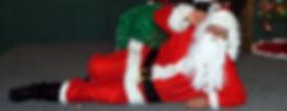 Santa Visits Riverside Bar in Madisonville