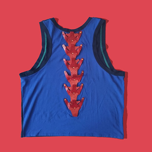 Red Leather Spine Tank