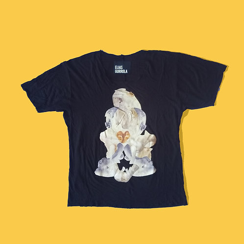 Skull Collage Graphic Tee