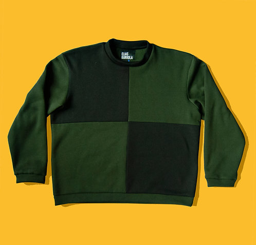 Olive grid sweater