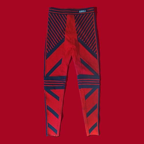 Red Striped Legging