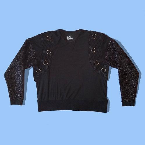 Black ring sweater