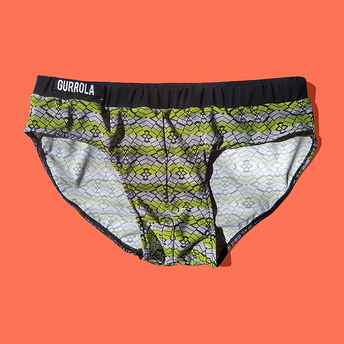 Geo Brief w/ Black  Waistband