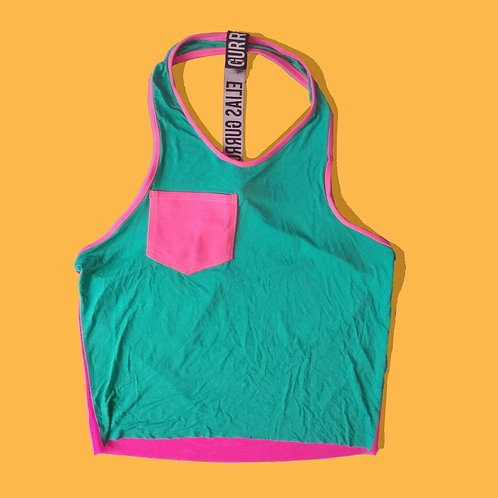 Teal and pink racerback tank