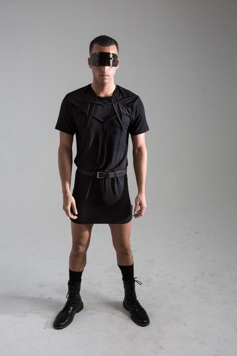 Interlock shirt dress