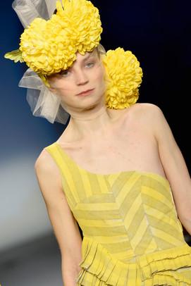 Yellow linen jumpsuit