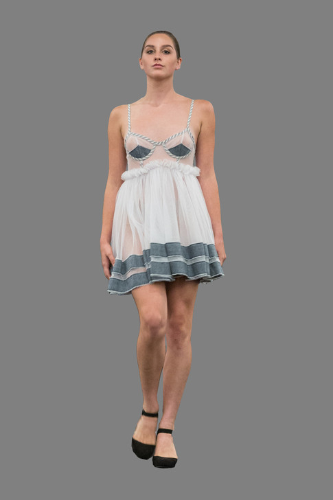 Tulle babydoll dress