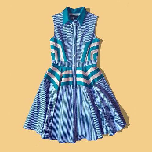 Stripe blocked dress