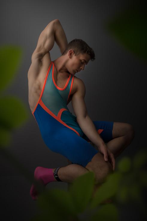 Color blocked wrestler bodysiut