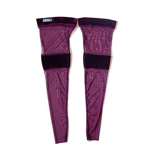 Merlot velour thigh high socks