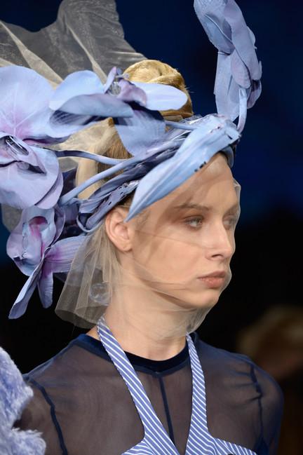 Lavender floral head piece