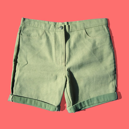 Green Denim Short