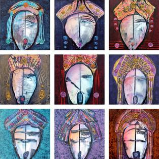 TIGRANE-Polyptique de 9 tableaux