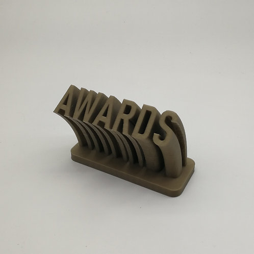 3D Printed Swirling Text