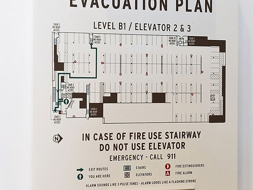 Evacuation Plan Sign