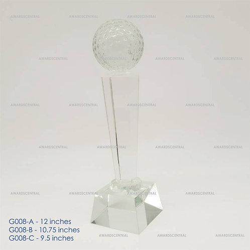 G008 - Golf Crystal Trophy Series