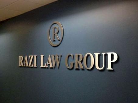 Razi Law Group Signage