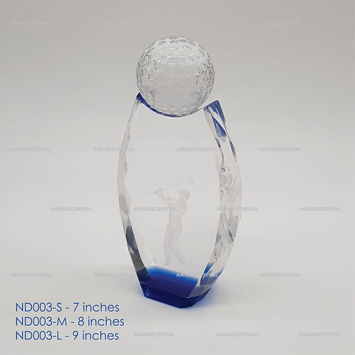 ND003 - Golf Crystal Trophy Series