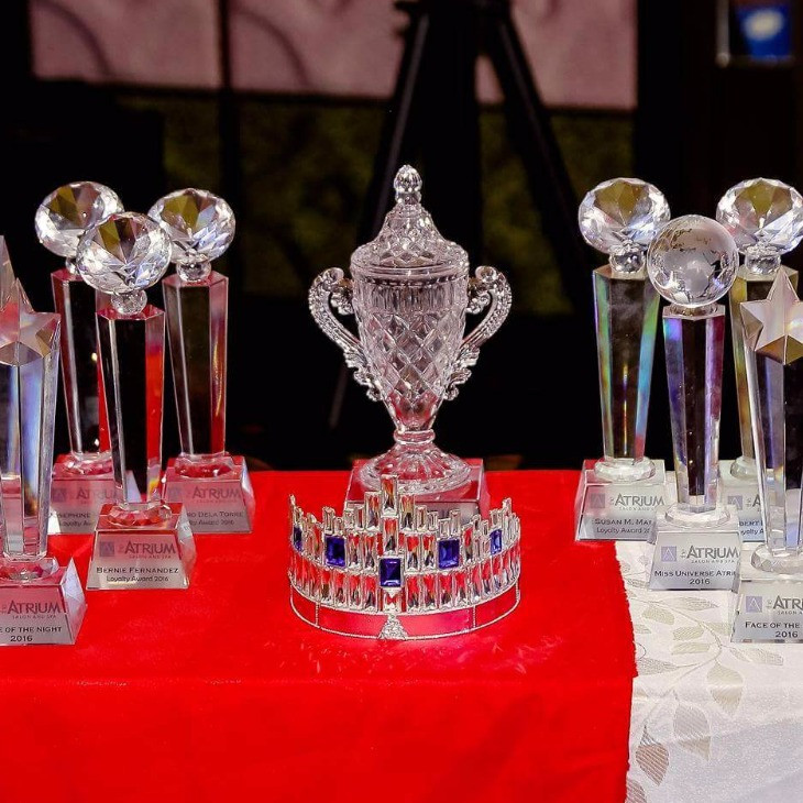 Crystal Trophies - look at that shine!
