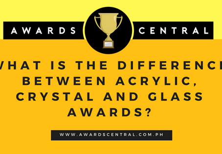 What is the difference between acrylic, glass and crystal awards?