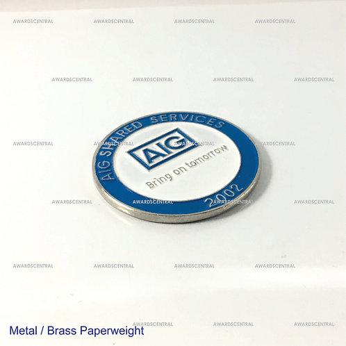 Metal Paperweight