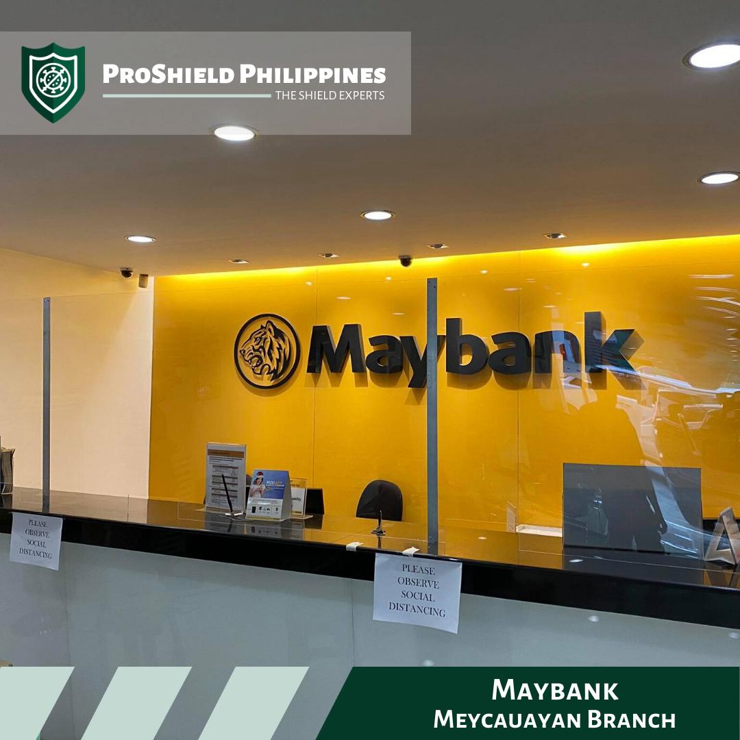 Counter Shields at Maybank - Meycauayan Branch