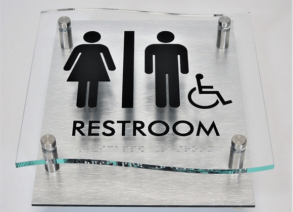 Etched Glass Sign