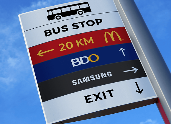 Outdoor Directional Sign