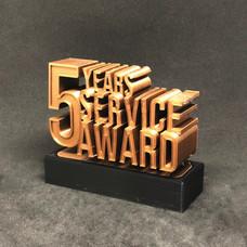 3D Service Award