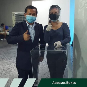 Aerosol box donated to Providence Hospital