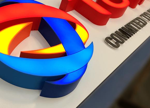 Acrylic 3D Build-up Sign