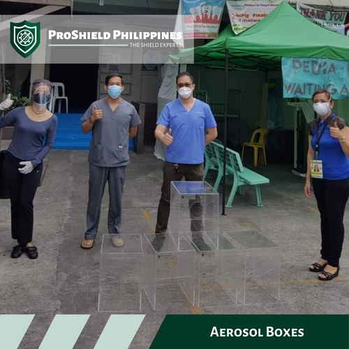 Aerosol boxes donated to Jose Fabella Memorial Hospital