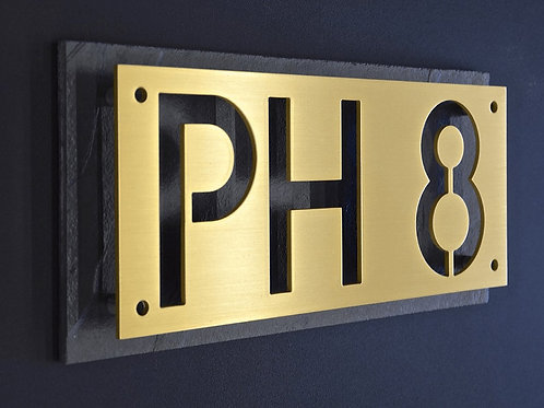 Brass Cutout Sign