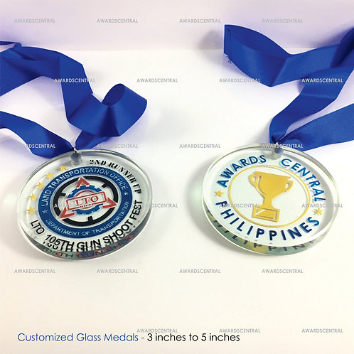 Custom Glass Medals