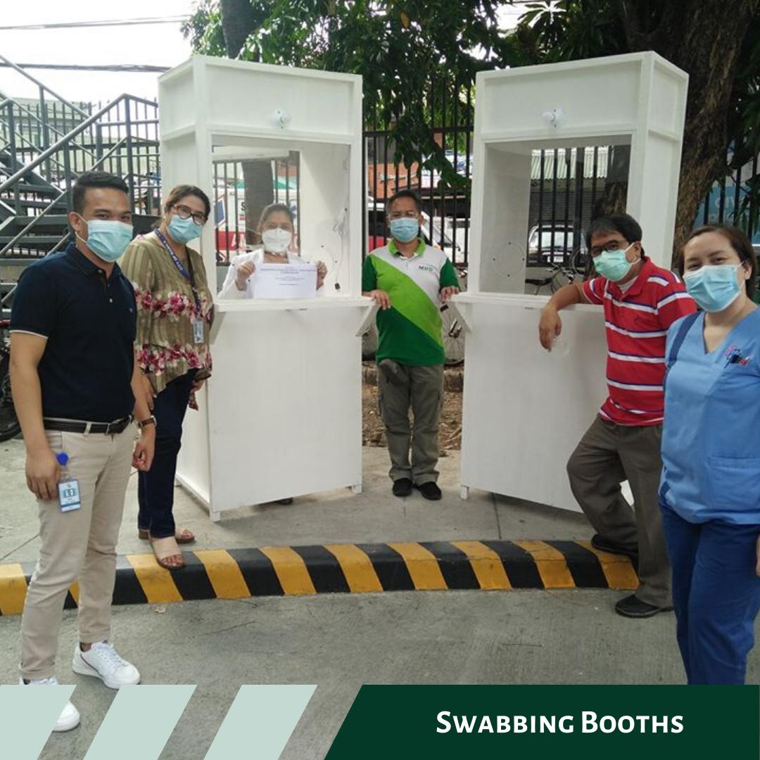 Swabbing booth delivered to Fe Del Mundo Medical Center