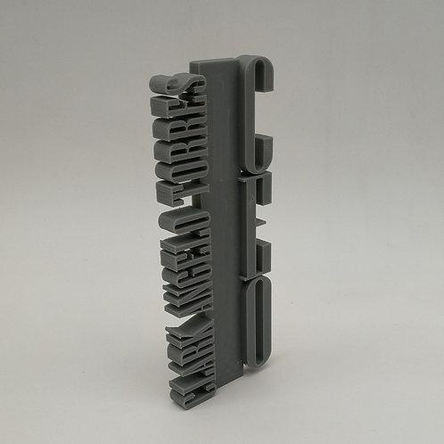 3D Vertical Word Trophy or Plaque