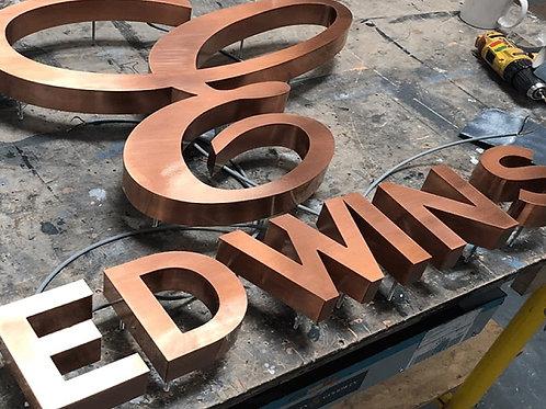 Brass Build Up Signage