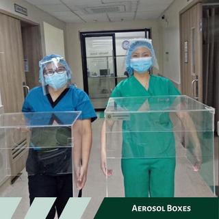 Aerosol boxes donated to Seamen's Hospital