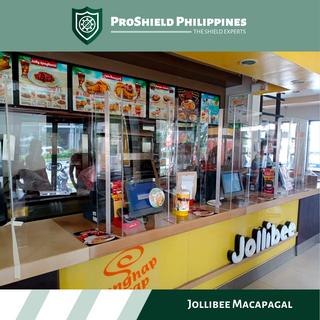 Counter Shields at Jollibee Macapagal Branch
