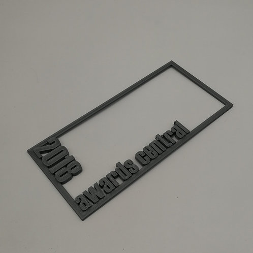 3D Text Frame for Plaques or Trophies