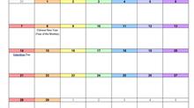 Feburary Calendar