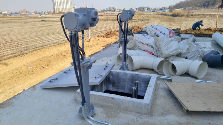 Separate Installation of the Actuator and the Cylinder (Valve and Cylinder installed 3m underground)